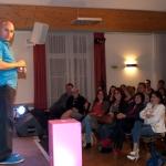 Christoph Fälbl mit seinem begeistgerten Publikum
