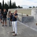 auf der obersten Ebene der militärischen Gedenkstätte von Redipuglia