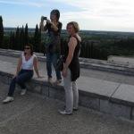 Die militärische Gedenkstätte von Redipuglia mit Blick von oben