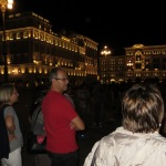 auf der piazza dell Unita d Italia mit Blick auf das Rathaus