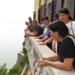 Am Balkon von Schloss Duino mit traumhafter Aussicht
