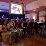 "Ortsmusikkapelle St. Nikolai ob Draßling bei ihrem Frühlingskonzert mit dem Thema Filmmusik (""Superman"")"