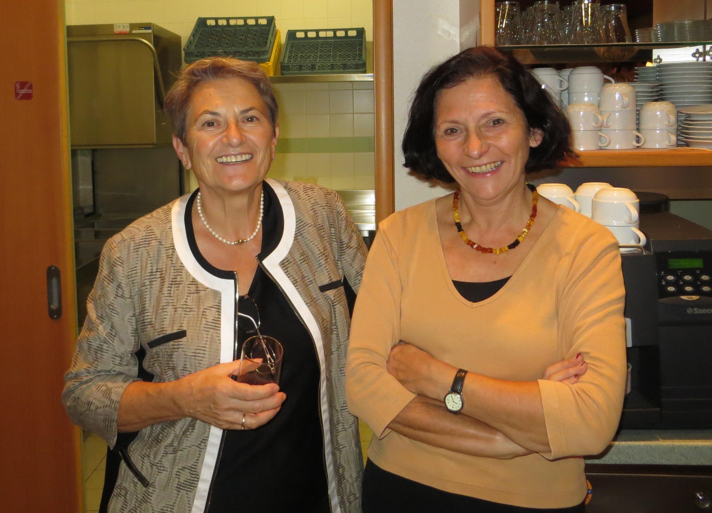 glückliche Gesichter von Ossi und Renate