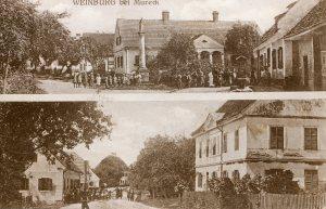 Ak Weinburg Dorfplatz